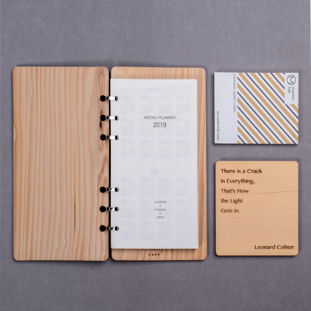原木筆記本 B6尺寸 方眼紙 notebook 提供客製化雕字 原木