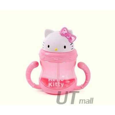 【可愛吸管水壺 買就送】Hello Kitty 凱蒂貓 兒童水杯吸管杯子小學生帶手柄防漏送萬能神奇膠 (0.8折)