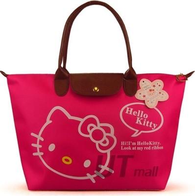 Hello Kitty防水手提包手袋時尚卡通單肩包購物袋女包潮韓版 (4.8折)