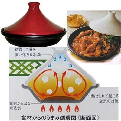 日式健具陶瓷塔吉鍋22cm~塔吉鍋 塔金鍋 摩洛哥鍋 (5.5折)