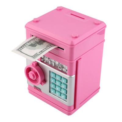特價 ! 智能硬紙幣保險櫃 自動捲錢機 兒童安全電子密碼鎖保險箱 ATM存錢機 存錢筒 撲滿 (5.7折)