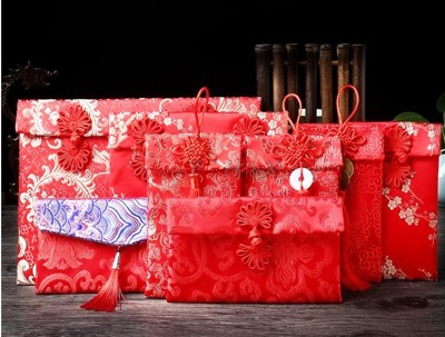 現貨3入裝 玉珮款錦緞紅包袋 布紅包 布藝錦緞提花 紅包袋 過年必備袋 紅包 絲綢 高檔 春節 新年 (4折)