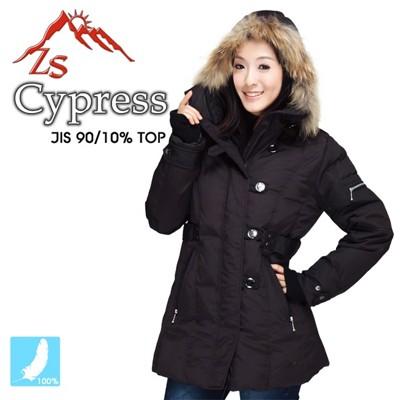 ZS Cypress 個性軍裝女款羽毛外套 (8折)