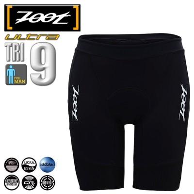 ZOOT【頂級碳纖】九吋肌能三鐵短褲(男)-黑 (8折)