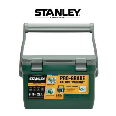 【美國Stanley】6.6L可提式超長效能保溫冰桶/野餐籃-綠 (可攜水壺/做椅子) (8.9折)