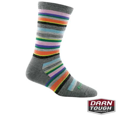 【美國DARN TOUGH】女羊毛襪SASSY STRIPE 居家生活襪(2入顏色隨機) (8.1折)