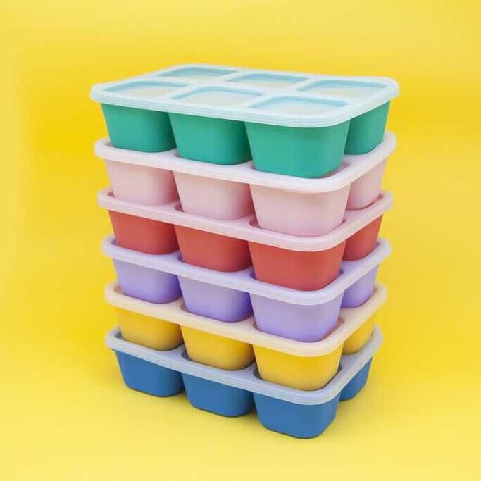 marcus & marcus - 動物樂園造型矽膠副食品分裝保存盒