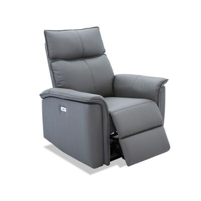 康拉德半牛皮機能電動單人沙發-2色 (8.3折)