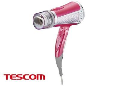 TESCOM 負離子吹風機雙氣流風罩 TID960TW 粉色/白色 (7.4折)