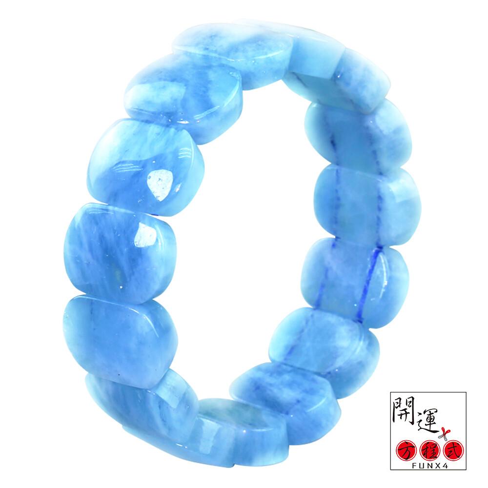 開運方程式天然海藍寶催燦光芒手排(勇敢之石)