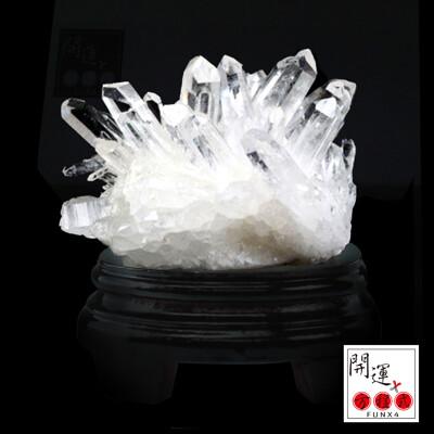 【開運方程式】天然6A白水晶簇擺件(八方能量護持正氣) (7折)