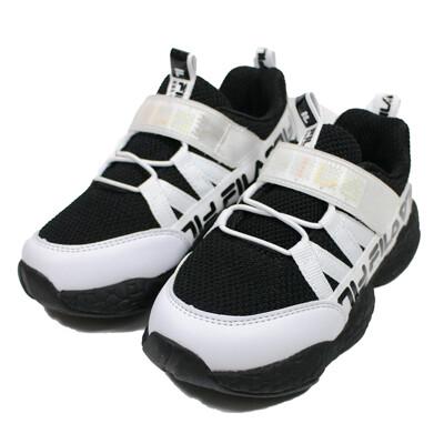 (B3) FILA KIDS 中童鞋 MD電燈運動鞋 2-J425U-010 黑白 (9.2折)