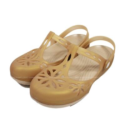 (B5) CROCS 卡駱馳 女鞋 伊莎貝拉克駱格 涼拖鞋 水鞋 雨鞋 204939-277 金 (8.7折)