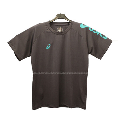 (B3) ASICS 亞瑟士 運動上衣 短袖T恤 台灣製 吸濕快乾 K12047-90 深灰 (9.9折)