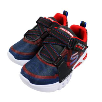 (AY) SKECHERS 男童 燈鞋 運動鞋 FLEX-GLOW - 90543NCCRD 深藍x (9折)