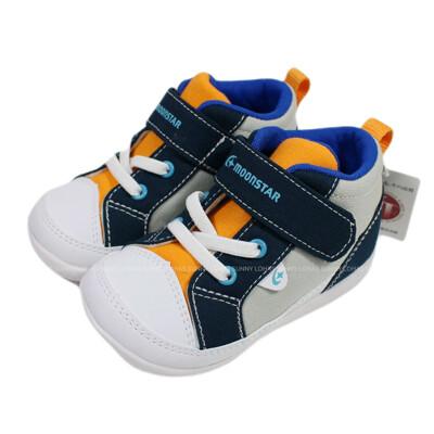 (BZ) MOONSTAR 寶寶鞋 機能童鞋 2E寬楦 學步鞋 帆布鞋 軟底 MSCNB2473灰藍 (8.6折)