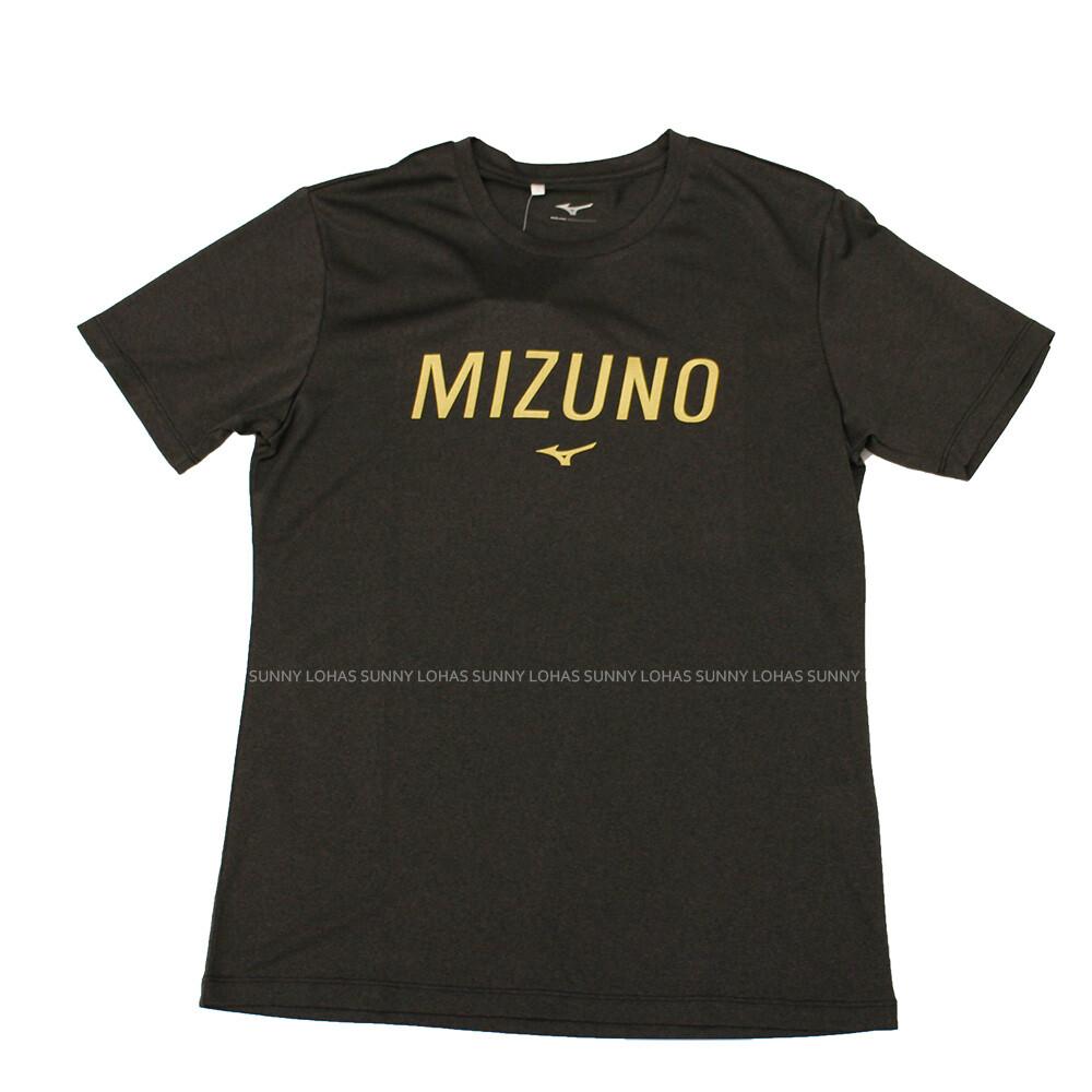 (b4) mizuno 美津濃 男 運動上衣 短袖t恤 合身版型 32ta001109 灰黑