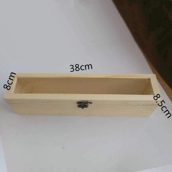 永生花diy材料手工專用木盒圓形絨布盒永生花diy花盒玻璃罩