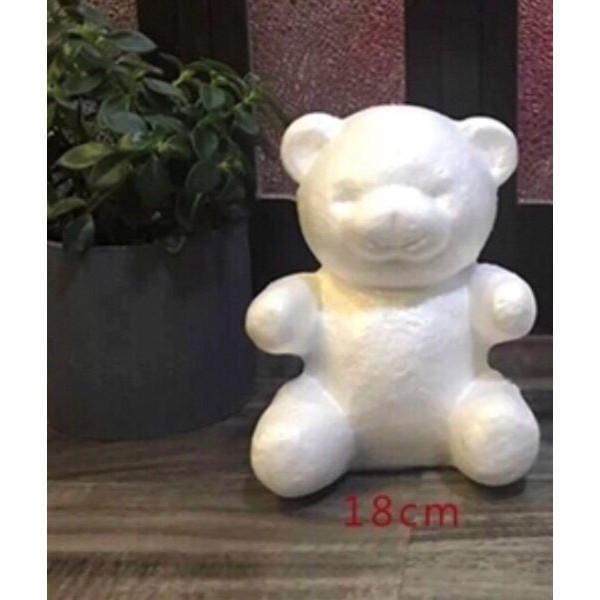 18cm熊泡沫模型材料(小熊玫瑰熊珍珠熊)