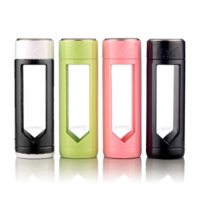 KAXIFEI 耐熱玻璃膠殼保護隨手杯 300ml  精美隔熱保護殼 高硼矽耐熱玻璃 (4.5折)