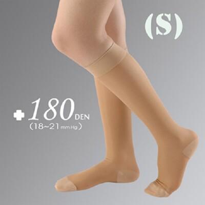 YASCO醫療彈性襪180DEN-小腿/包趾/膚(1雙/盒)【台灣製】 (8.3折)