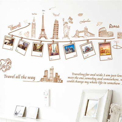 A-062 創意生活系列- 環球旅行 大尺寸高級創意壁貼 / 牆貼 (5.4折)