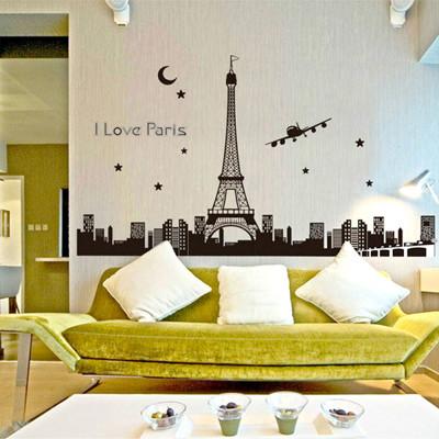 A-063創意生活系列--艾菲爾鐵塔夜光貼大尺寸高級創意壁貼 / 牆貼 (5.4折)