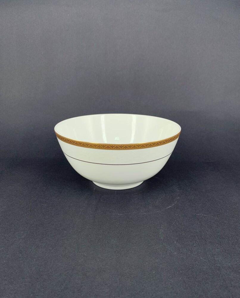 彩金骨瓷 7吋麵碗-可微波金