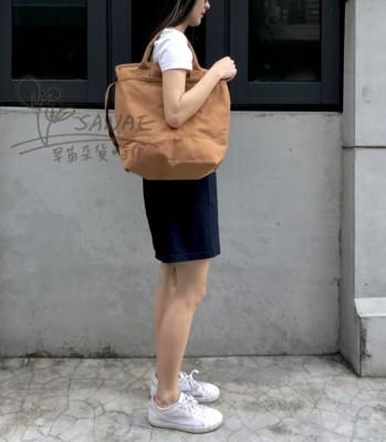 批發零售 外銷日本帆布公事包 夾層 拉鍊 深藍 卡其 簡單帆布包 無印風 簡約 文青 穿搭 側背 手 (5.6折)