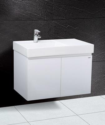 【凱撒衛浴caesar】80公分一體瓷盆浴櫃組(左盆)含龍頭LF5382B / BT460C, (4.2折)