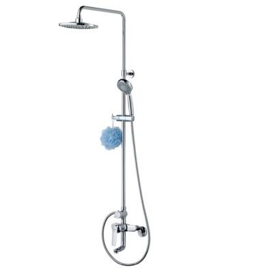 【洗樂適衛浴】LOLAT羅力銅器、單槍沐浴頂噴花灑水龍頭SNN1353K、台灣製造 (5.4折)