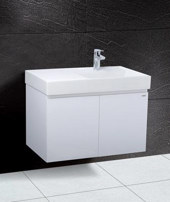 【凱撒衛浴caesar】80公分一體瓷盆浴櫃組(右盆)含龍頭LF5384B / BT700C, (4.2折)