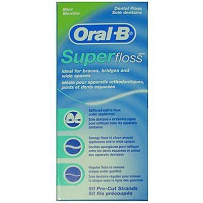 Oral B 歐樂B 三合一超級牙線 50條/盒 (牙套矯正器必用) 專品藥局 (3.6折)