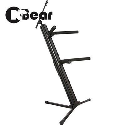 敦煌樂器cnbear k-722-1b 雙層鍵盤琴架加裝麥克風架 臺灣製 (9折)