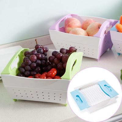 折疊蔬果收納瀝水籃 (2折)