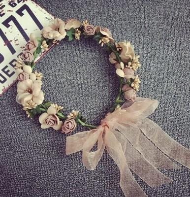 立體花朵花環 新娘頭飾百搭頭箍 (3.5折)