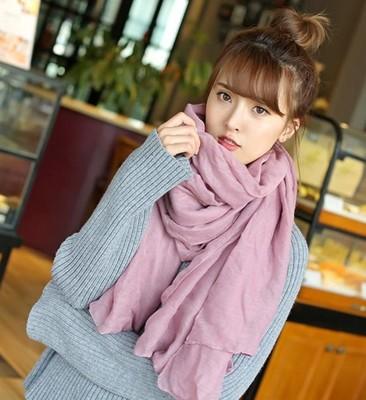 時尚棉麻圍巾兩用超長女韓國百搭文藝 披肩 (2.2折)