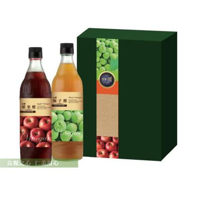 台糖 水果醋禮盒(2瓶/盒) 蘋果醋x1+梅子醋x1 (7.3折)
