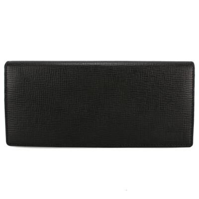 DAKS新款十字紋皮革多卡拉鍊袋長夾 231227 (7.8折)