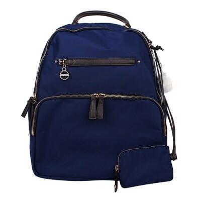 Kanana卡娜娜 多功能尼龍中型後背包/附零錢包(深藍色)241005-03 (7.7折)