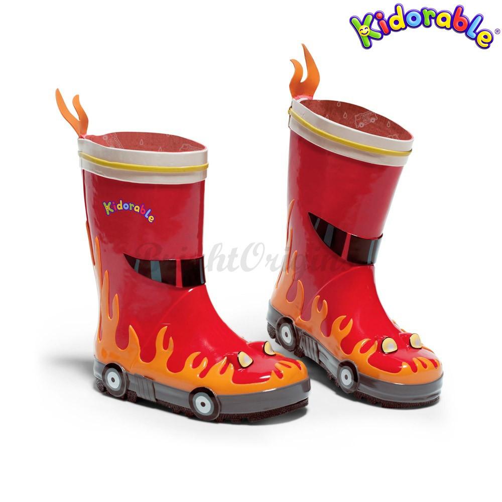 美國kidorable 童趣雨鞋 消防員款