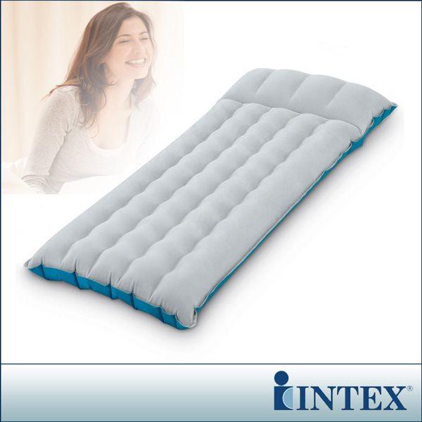 intex單人野營充氣床墊/露營睡墊-寬67cm (灰藍色) (67997)