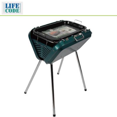 【LIFECODE】提箱型烤肉架(附烤盤)-寬50cm (6.4折)