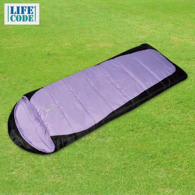 【APC】秋冬加長加寬可拼接全開式睡袋(雙層七孔棉)-紫黑色/藍黑色 SGS檢驗合格 (3.5折)