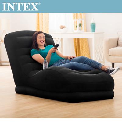 INTEX S曲線加長懶人充氣躺椅(68595)+LIFECODE 110V幫浦 (7.4折)
