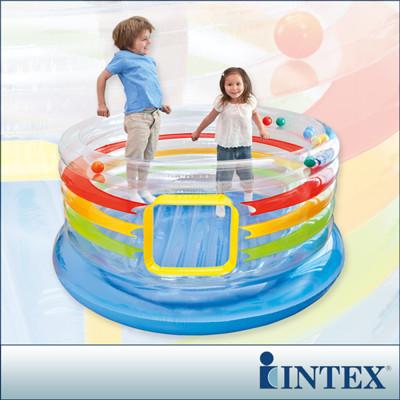 【INTEX】兒童跳跳床-多彩圓型-寬182cm (48264) (7.1折)
