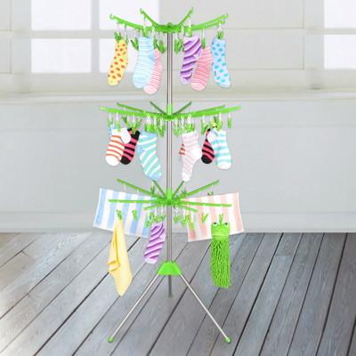 LIFECODE《回轉式》不鏽鋼曬襪架/毛巾架 (6.9折)