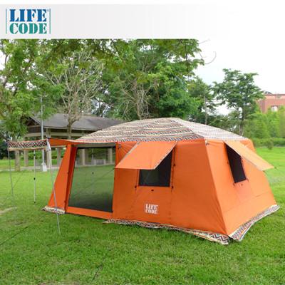 【LIFECODE】民族風《二房一廳》多用途超大4-8人帳篷(三門三窗)-桔色 LC653R (6.1折)