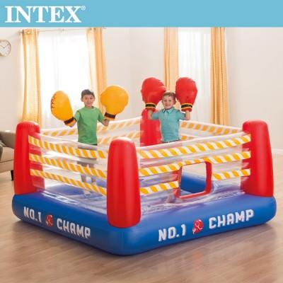 【INTEX】NO1 大型充氣拳擊場/跳跳床-附4個手套(48250)+送110V幫浦(66639) (6.2折)