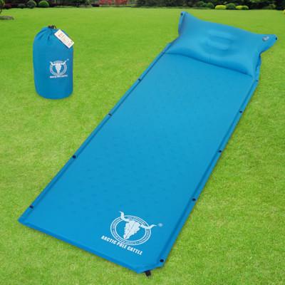 【APC】可拼接自動充氣睡墊-帶自充式頭枕-厚2.5cm-藍色/桔紅色 (2色可選) (5.8折)